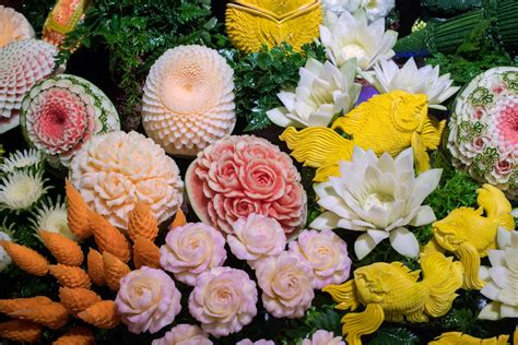 s fruit thailand fruit and vegetable carving competition in thailand