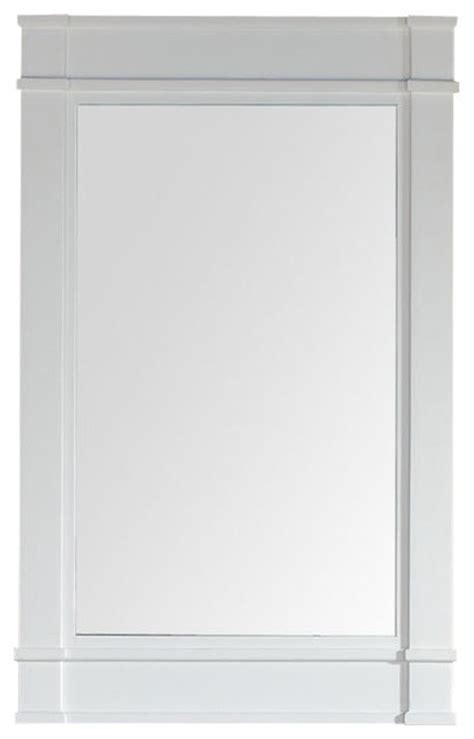 Cottage Style Mirrors Bathrooms by 26 Quot Single Mirror Cottage White Style