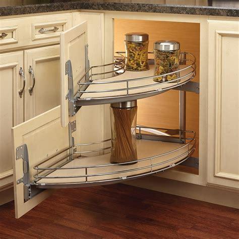 rev a shelf 18 in corner cabinet pull out chrome 3 tier rev a shelf 582 18 rmp two tier curve blind corner
