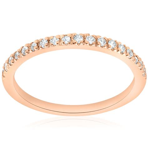 A 177 Rosegold 1 4ct ring 14k gold womens wedding