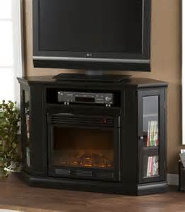black corner tv stand electric fireplace home ideas