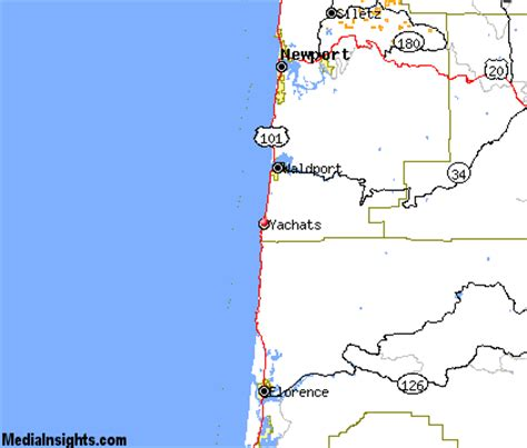map of yachats oregon yachats vacation rentals hotels weather map and attractions