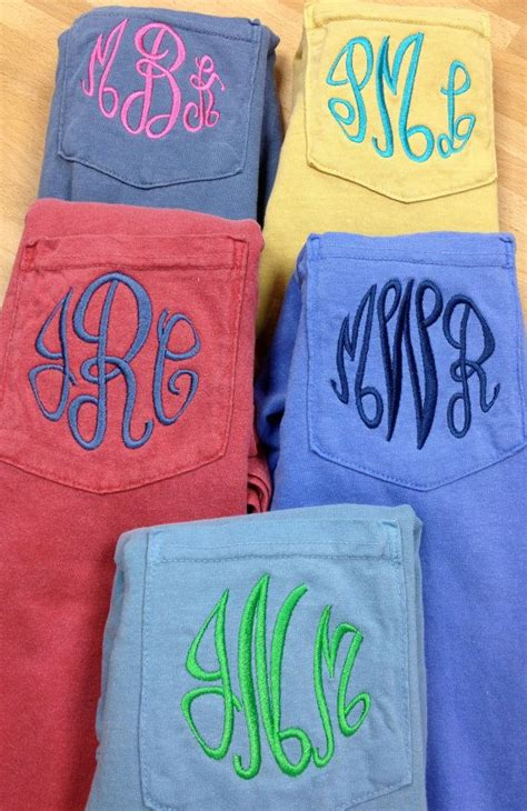 monogram comfort colors monogrammed comfort colors pocket tee short sleeve