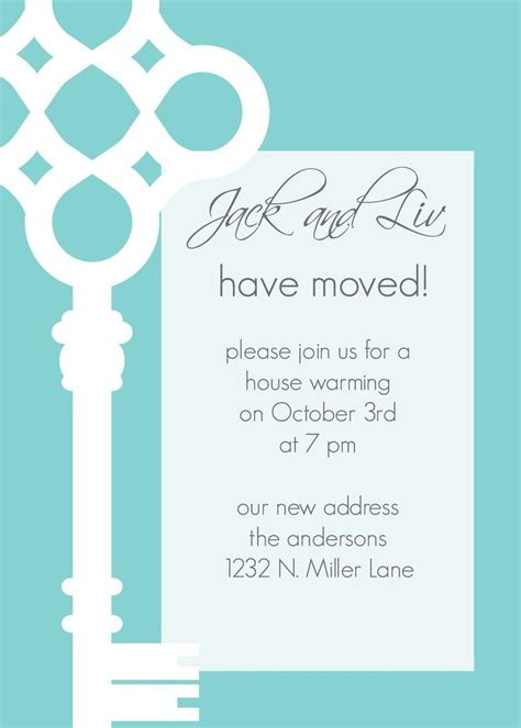 Invitation Cards Templates For Housewarming by The Bold Graphic Jackandliv Custom Key Moving