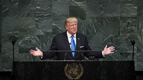 donald trump un speech trump at un if us is threatened it will have no choice