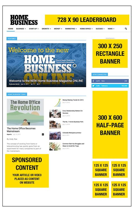 banner ads home business magazine