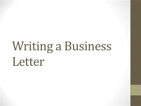 Business Letter Writing Slideshare Writing A Business Letter