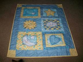 Blue Moon Quilt Pattern by Sun Moon And Baby Quilt In Blue And Yellow Blue