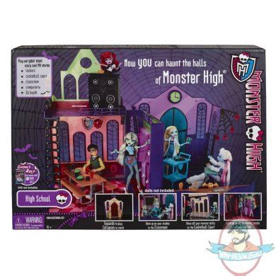 monster high school doll house monster high high school dollhouse by mattel man of action figures