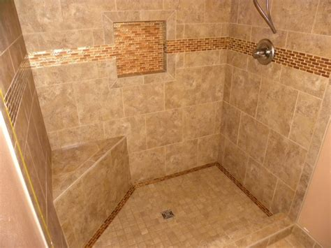 tiled shower with bench tile shower built with wedi system including curb bench