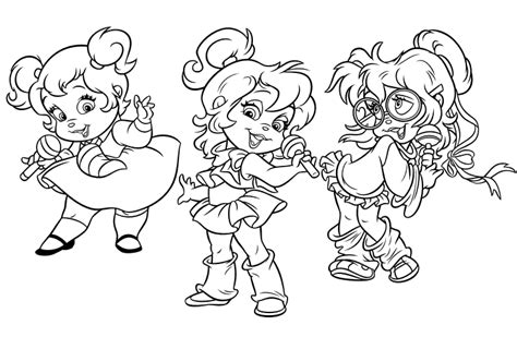 image the chipettes colouring page png alvin and the