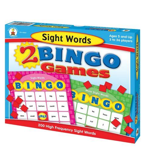 sight words brighter child 0769664709 sight words bingo board game grade k 2