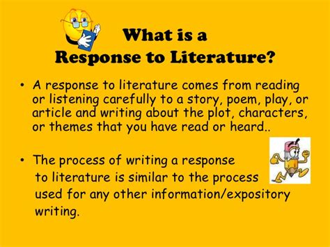 What Is A Response To Literature Essay by How To Write A Response To Literature Essay