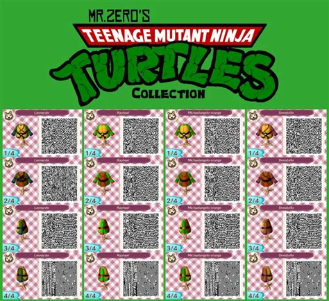 animal crossing new leaf tmnt qr collection by misterzero