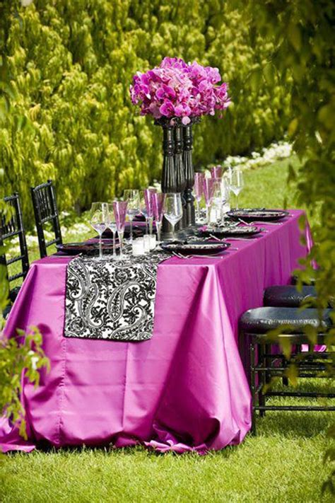 wedding table decoration ideas purple wedding table runners table setting ideas for a special day