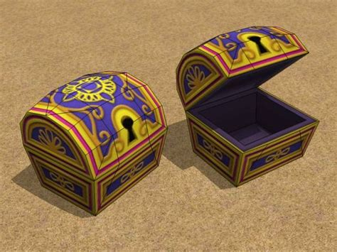 Treasure Chest Papercraft - papercraft treasure chests all