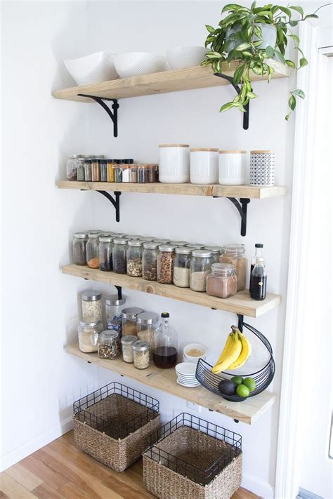kitchen storage shelves ideas best 10 kitchen wall shelves ideas on open