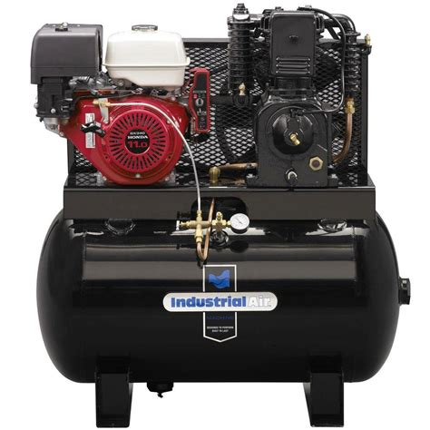 industrial air 50 gal 2 stage truck mount air compressor with 11 hp electric start honda gas