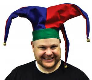 Pics photos court jester clown joker hat headwear collar costume new