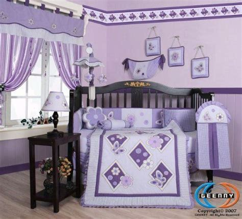 Boutique Brand New Geenny Lavender Butterfly 13pcs Baby Butterfly Nursery Bedding Set