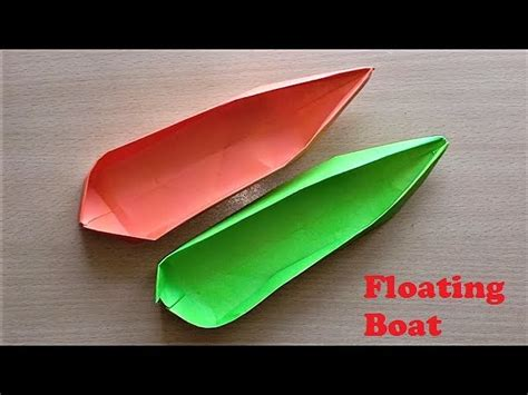 How To Make Paper Float - how to make paper floating boat step by step my crafts