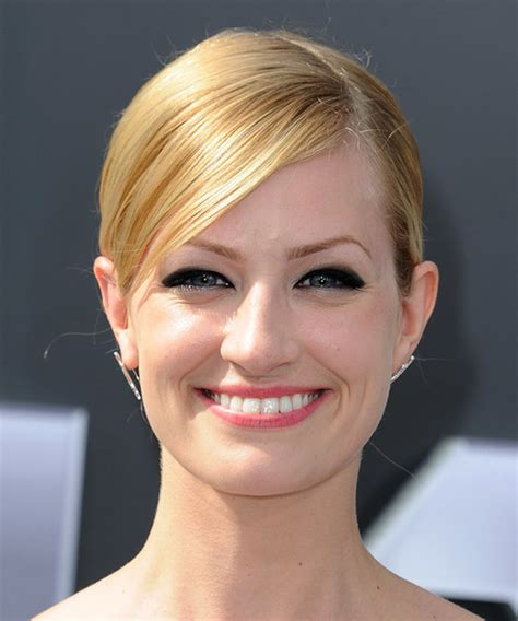 beth behrs hairstyle wavy medium beth behrs long straight formal wedding updo hairstyle