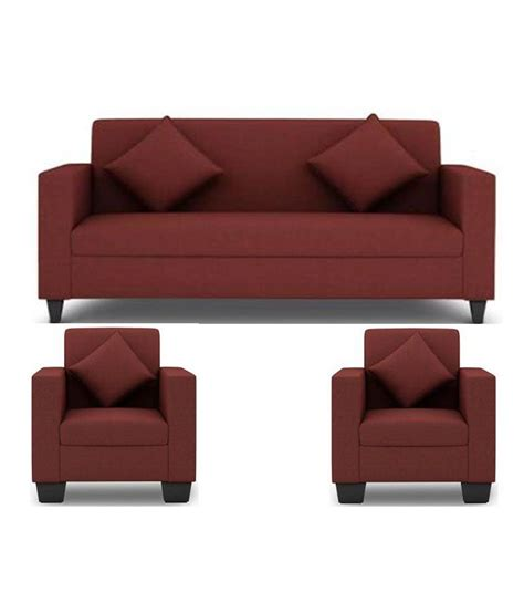 Set Of Couches by Westido 5 Seater Sofa Set In Maroon Upholstery With