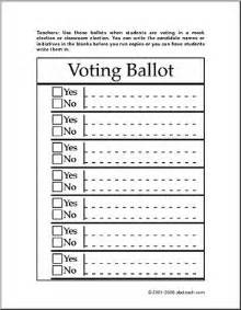 best 25 voting ballot ideas on pinterest civic holiday
