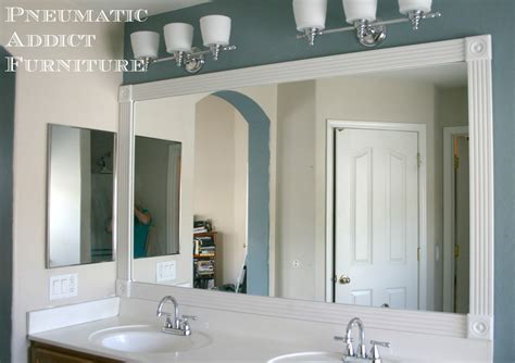 bathroom mirror trim ideas pneumatic addict tip for adding trim to a wall mirror
