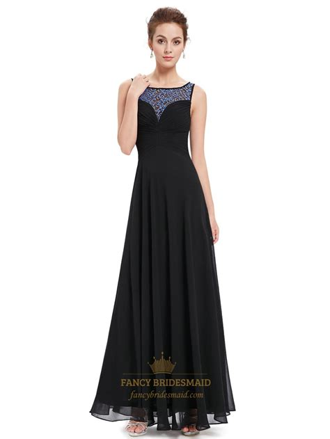 black beaded prom dress black chiffon sleeveless prom dress with beaded