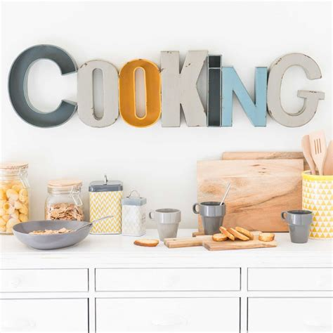 maison du monde decoration d 233 co murale en m 233 tal l 90 cm cooking maisons du monde