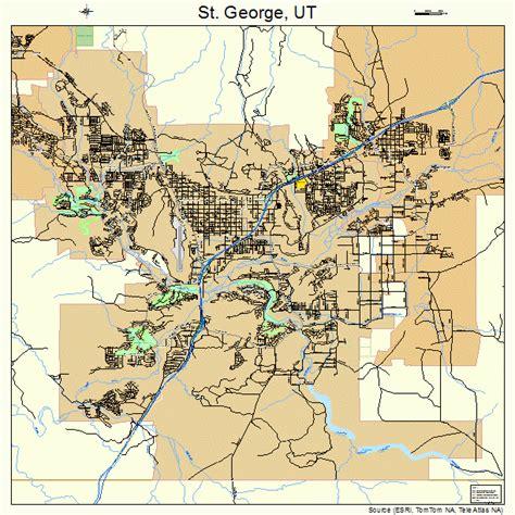 map of st george utah st george utah map 4965330