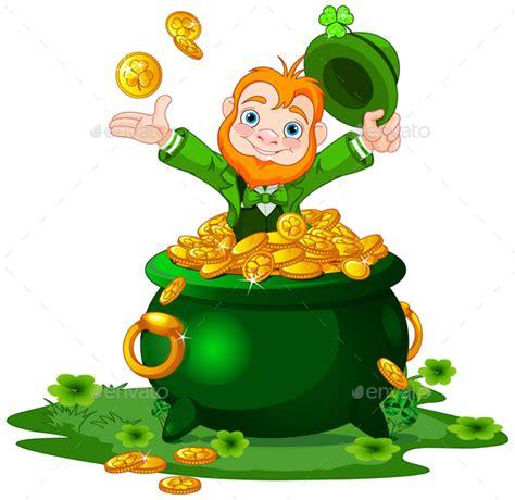 leprechaun and pot of gold by dazdraperma graphicriver