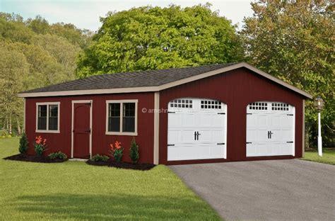 Amish 2 Car Garage by 2 Car Garages Nj Amish Mike