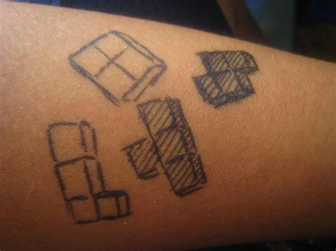 tetris tattoo tetris 3 pen by psychoticmindsystem on deviantart
