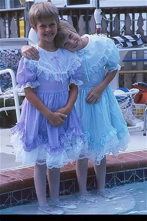 Nice Ruffled Dresses On Those 2 Boys They Must Have A Big Sister | nice ruffled dresses on those 2 boys they must have a big
