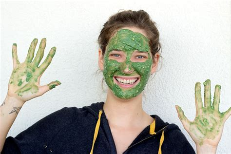 Masker Green Mask Spirulina avocado spirulina mask sprinkle of