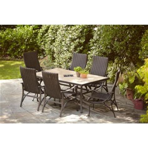 home depot patio furniture sets hton bay pembrey 7 patio dining set hd14214 the