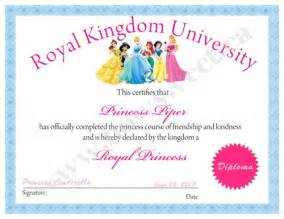 princess certificate template princess diploma or certificate printable sweetparties