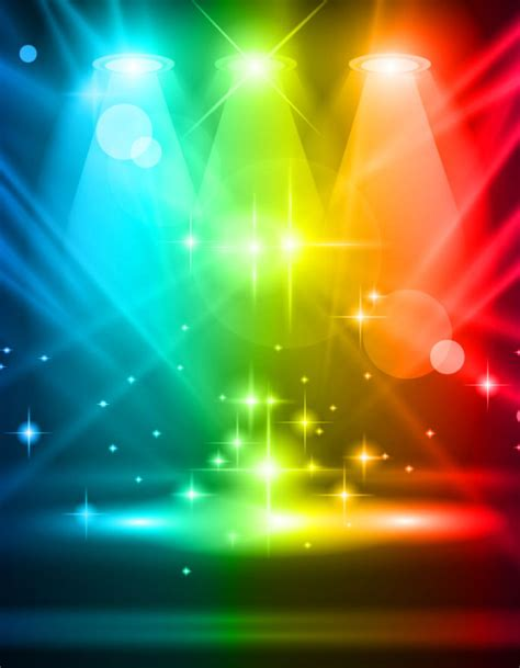 free stage background design vector rainbow stage spotlights vector background 03 vector