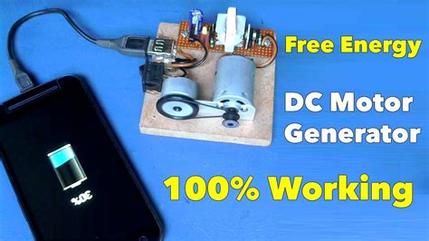 self running dc motor generator mobile charger