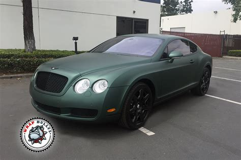 matte wrapped cars bentley wrapped in 3m matte green wrap bullys