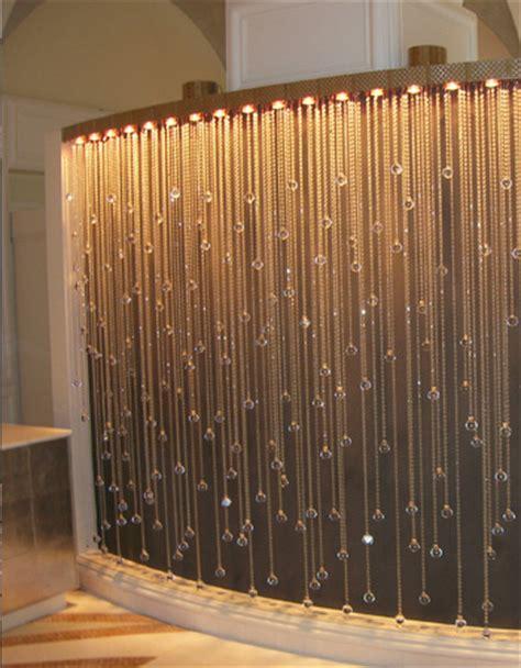 shower curtain lights crystal modular lighting cascade luminaire kentfield