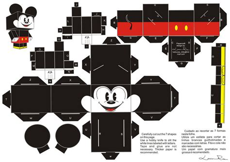 Free Papercraft - papercraft mickey by louise rosa on deviantart