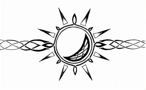 celtic sun tattoo designs celtic sun and moon armband by mrbobafett on deviantart