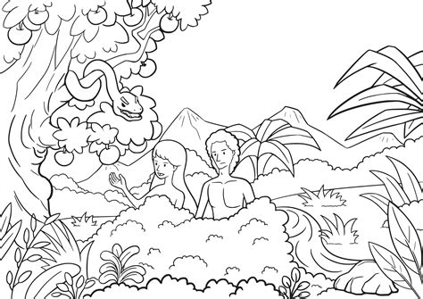 Genesis 3 Coloring Page by God Made Adam Coloring Page Sketch Coloring Page