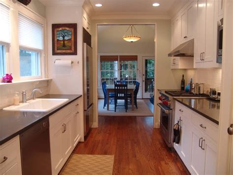 Galley Style Kitchen Designs by Decatur Bungalow New Galley Kitchen