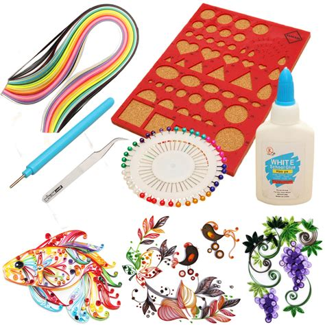 1 set creations paper quilling kit slotted tools pins