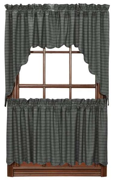 curtains 24 x 36 america gunmetal scalloped curtain tiers 36 quot w x 24 quot l vhc