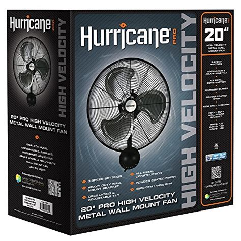 20 inch wall mount fan hurricane wall mount fan 20 inch pro series high